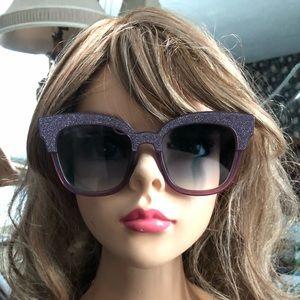 Jimmy Choo purple glitter square sunglasses NWOT